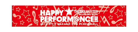 THE IDOLM@STER MILLION LIVE! 1stLIVE HAPPY☆PERFORM@NCE!!公式タオル(赤)