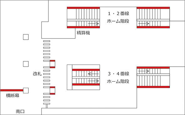 海浜幕張駅ポスター地図