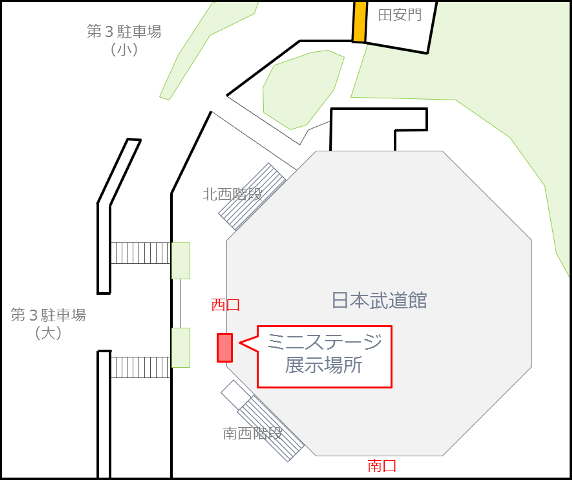 ブログ用ミニステージ展示場所地図